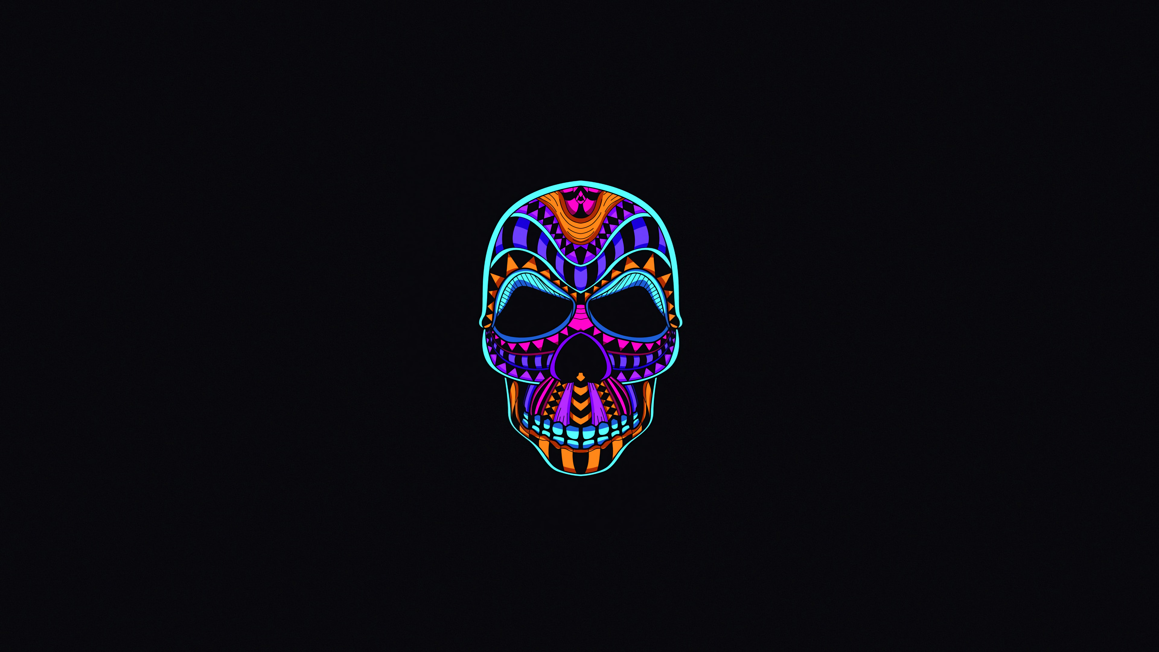 1366x768 Skull Dark Minimal 4k 1366x768 Resolution Hd 4k Wallpapers Images Backgrounds Photos And Pictures