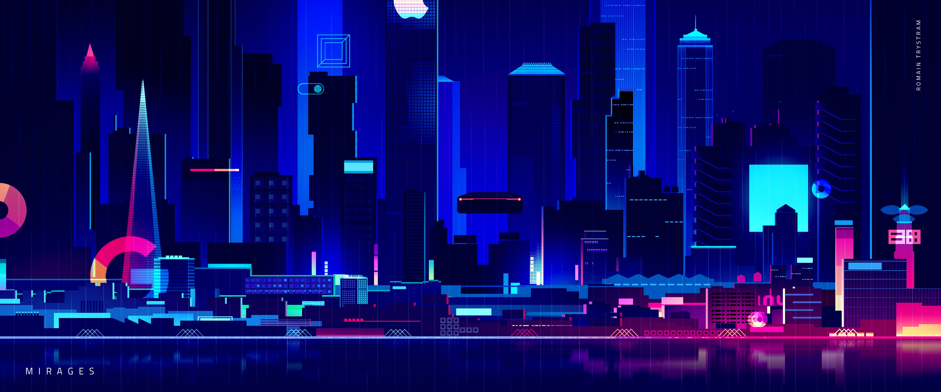 Skyscraper Synthwave Digital Art 4k Hd Artist 4k Wallpapers Images Backgrounds Photos And Pictures