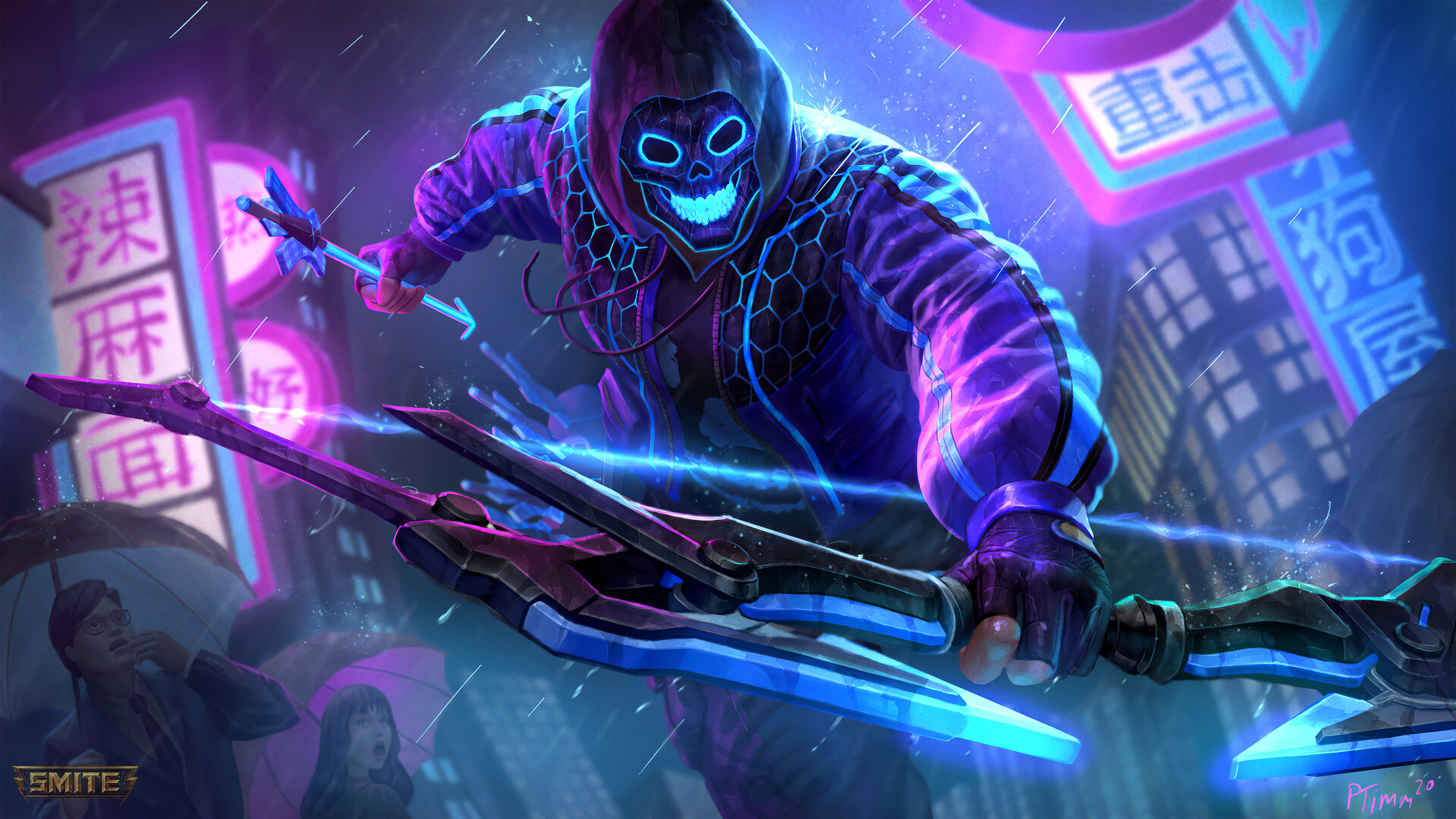 Smite Neon Hero Hd Games 4k Wallpapers Images Backgrounds Photos And Pictures