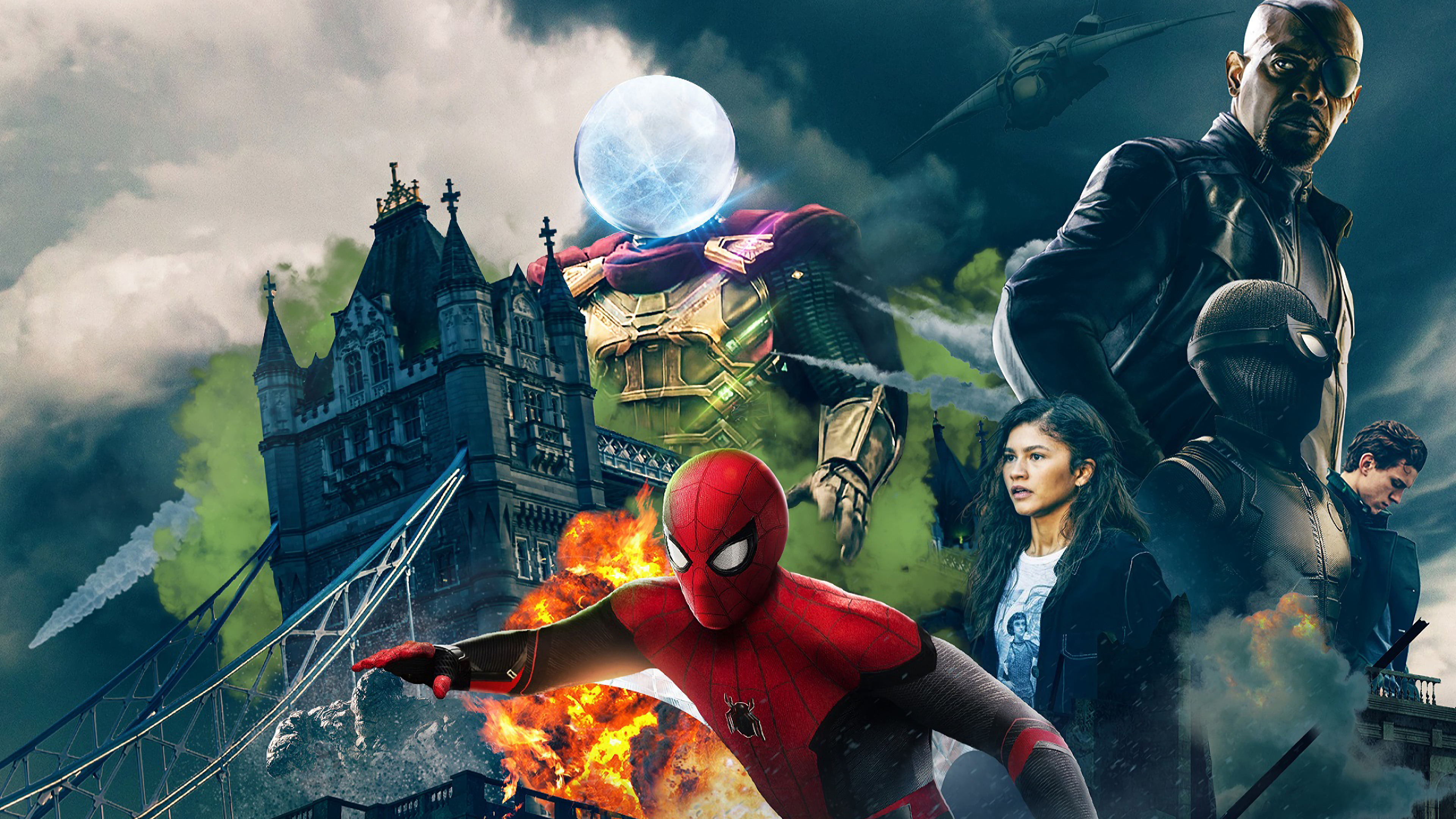 Spiderman Far Fromhome Character Poster Hd Movies 4k Wallpapers