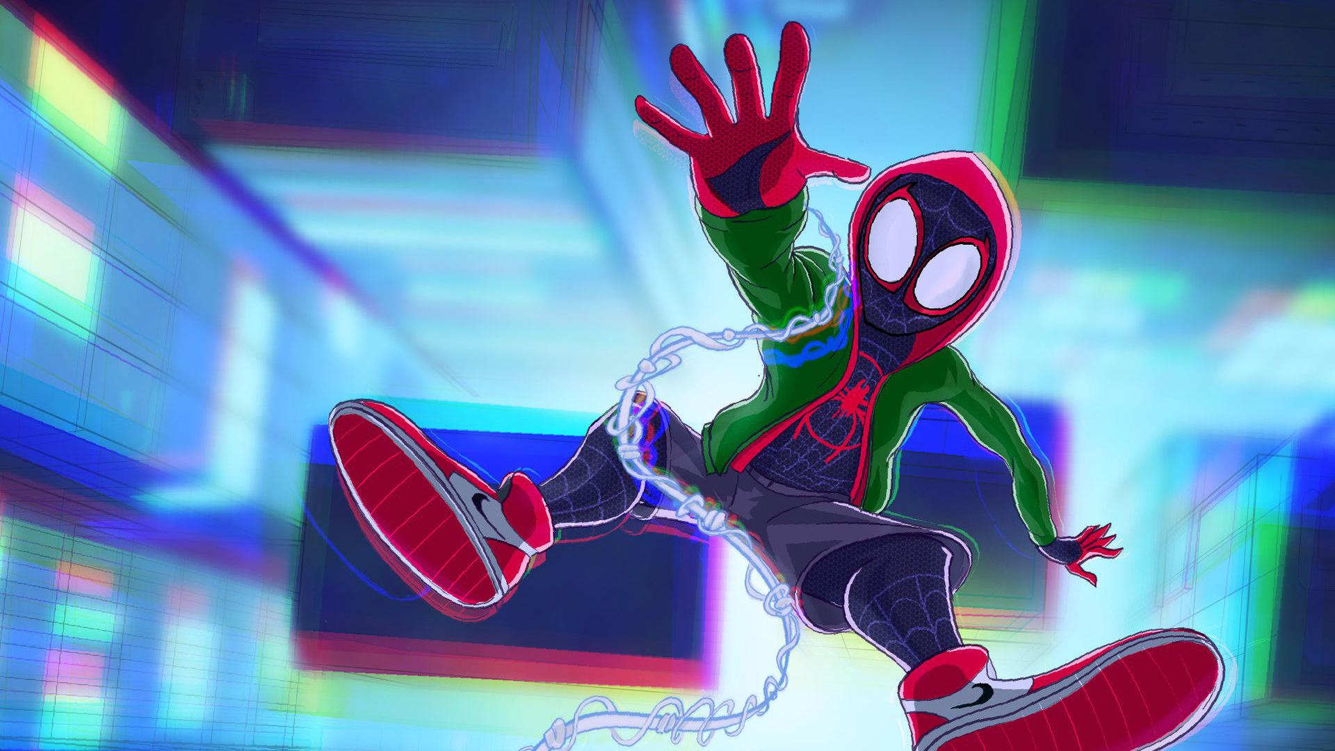 Spiderman Into The Spider Verse Movie Artworks 2018 Hd