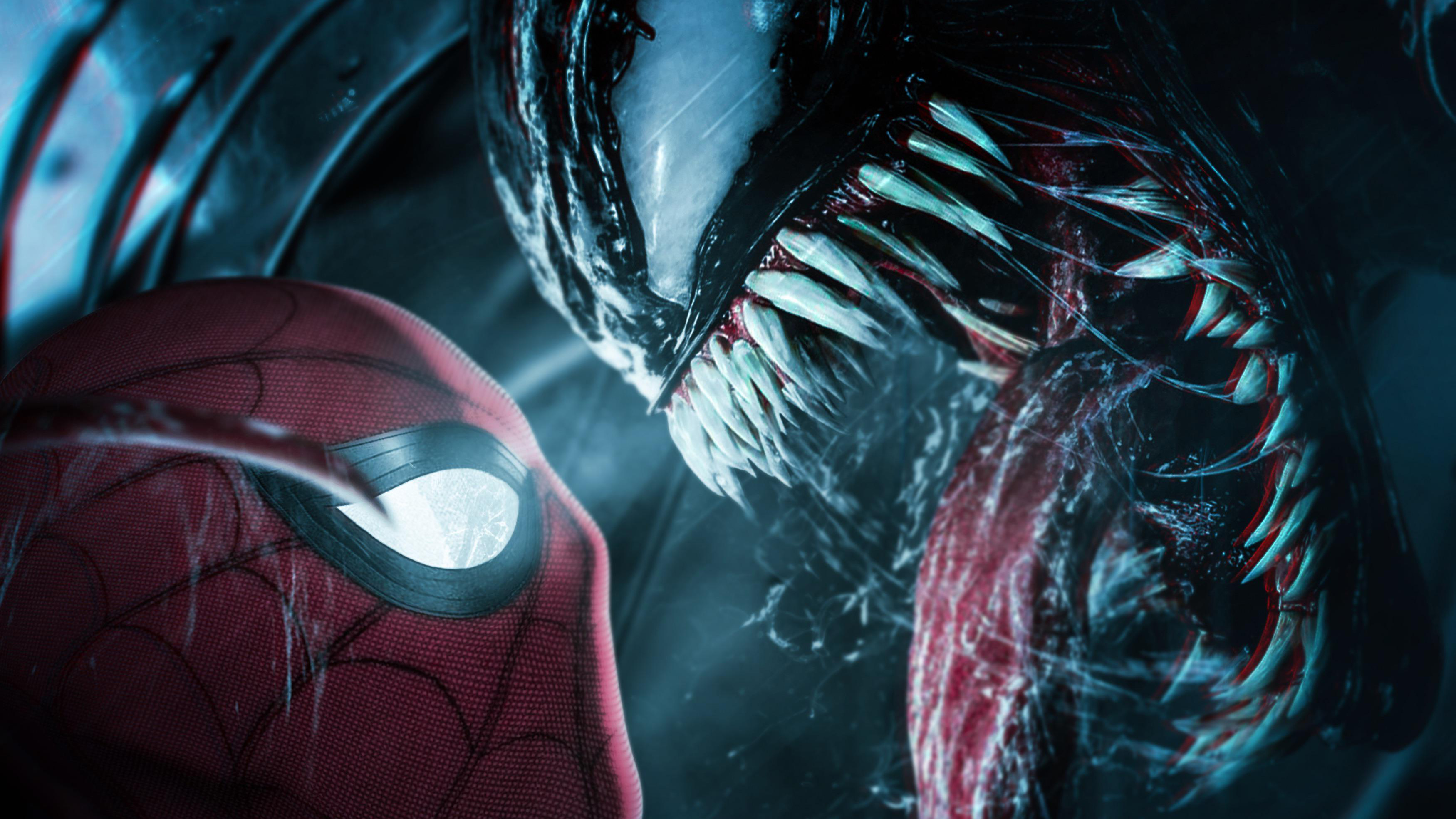 Spiderman Meets Venom 4k Hd Superheroes 4k Wallpapers Images Backgrounds Photos And Pictures