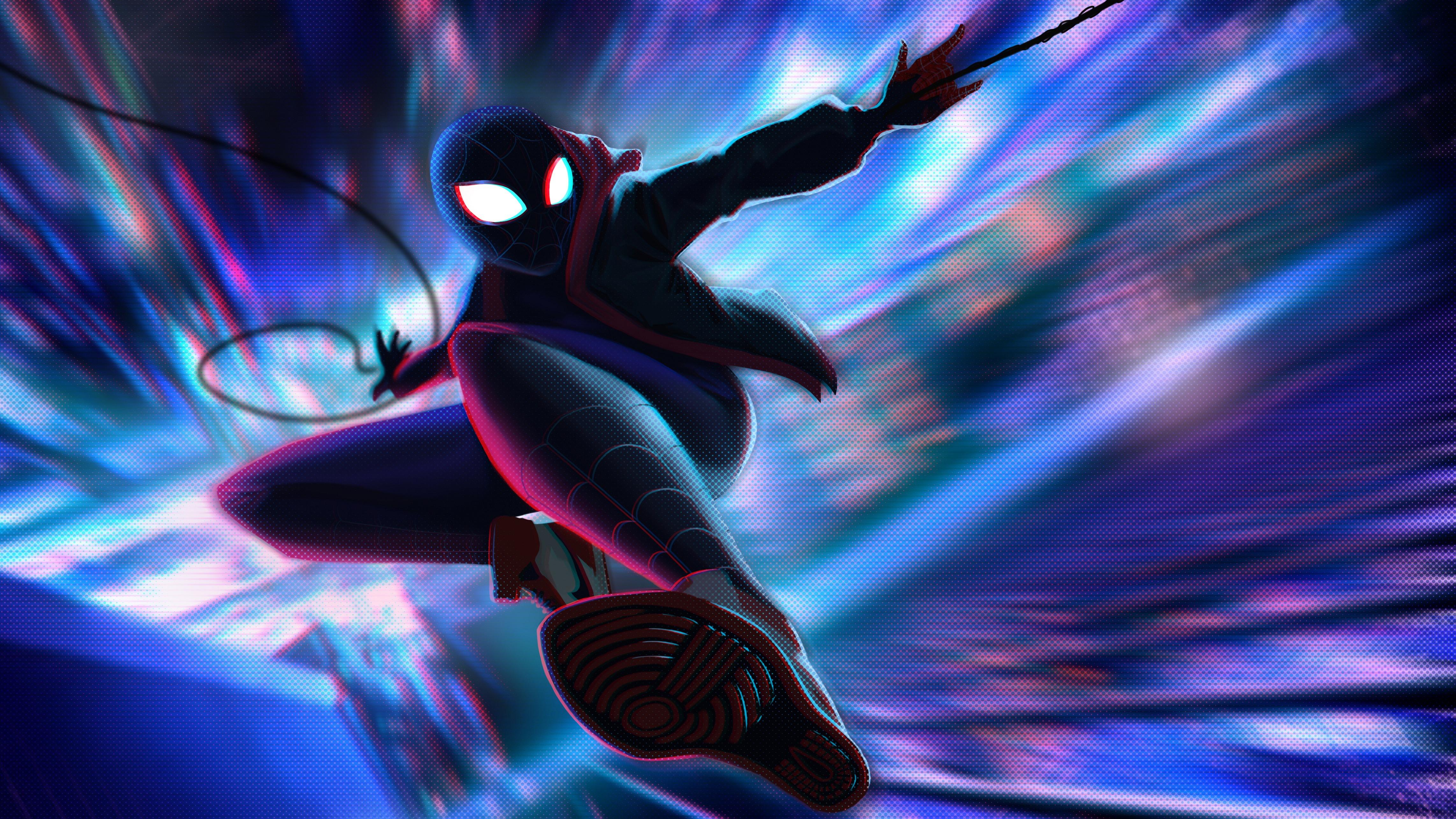 Spiderman Miles Morales Jump 5k Hd Superheroes 4k Wallpapers