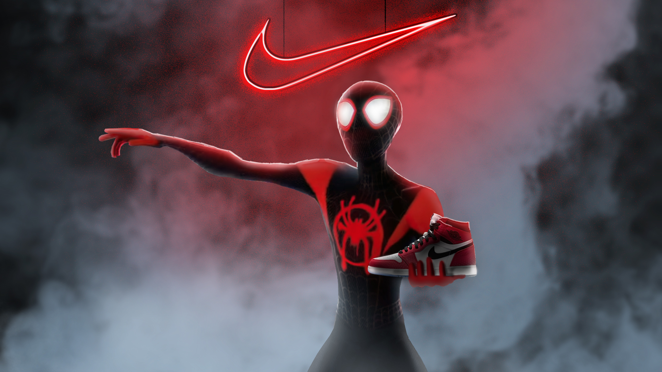 Salida hacia insalubre Humano  Spiderman Miles Morales Nike Air Jordan, HD Superheroes, 4k Wallpapers,  Images, Backgrounds, Photos and Pictures