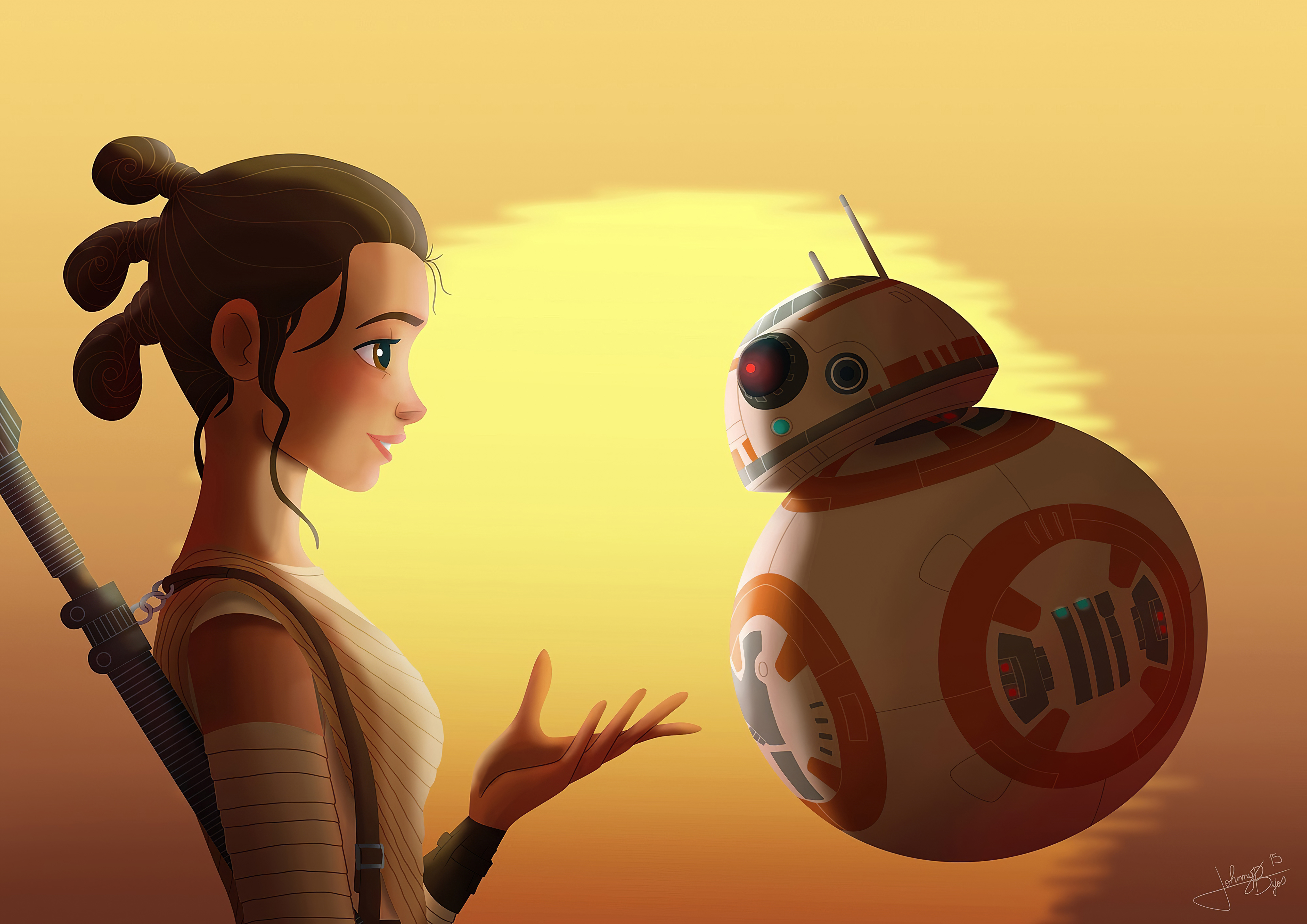 Star Wars Rey And Bb8 4k, HD Movies, 4k