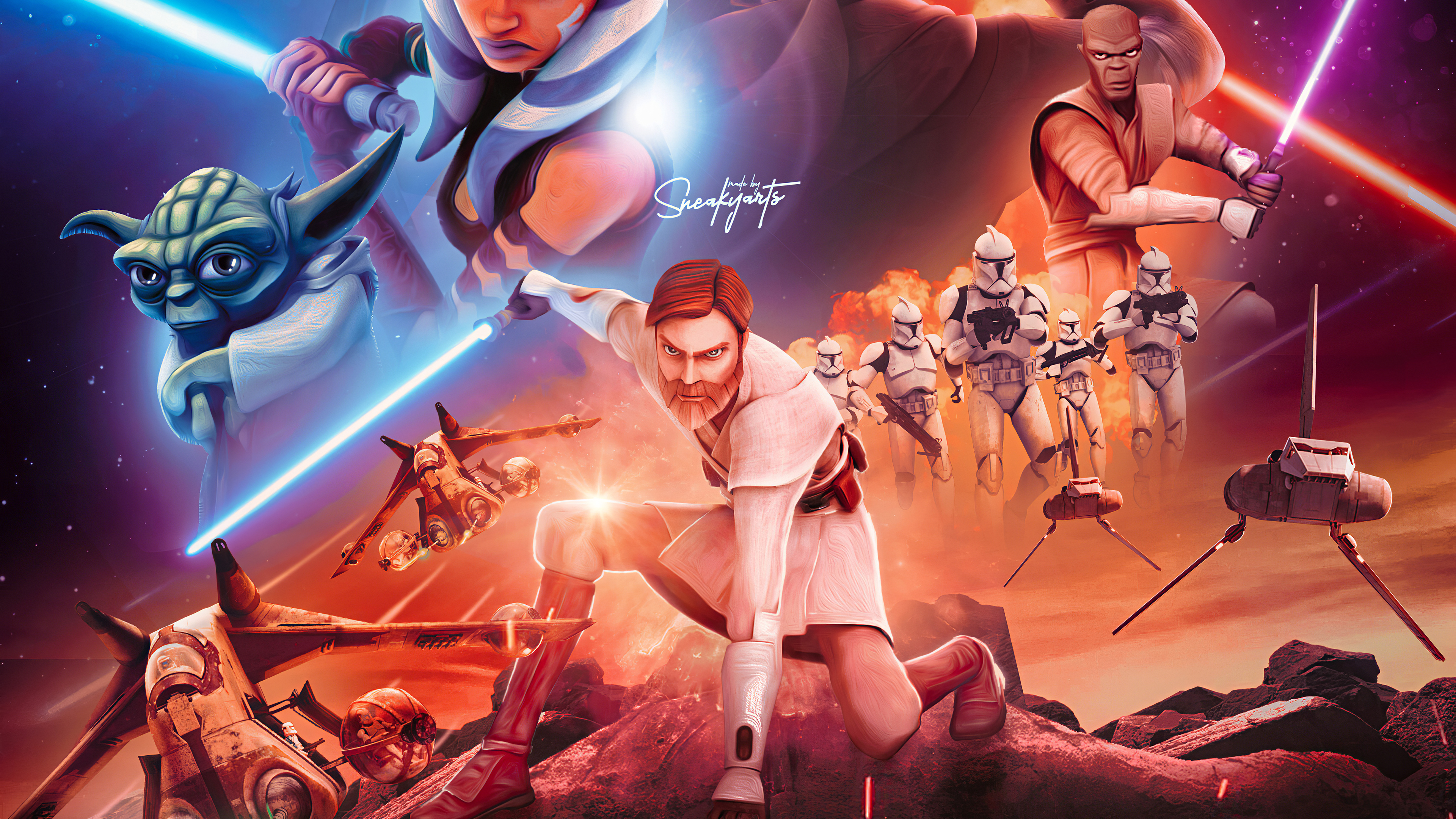 Star Wars The Clone Wars 4k Hd Tv Shows 4k Wallpapers Images