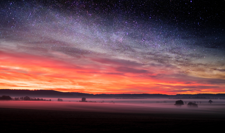1920x1080 Starry Night Sunset Skyscape Stars 5k Laptop ...