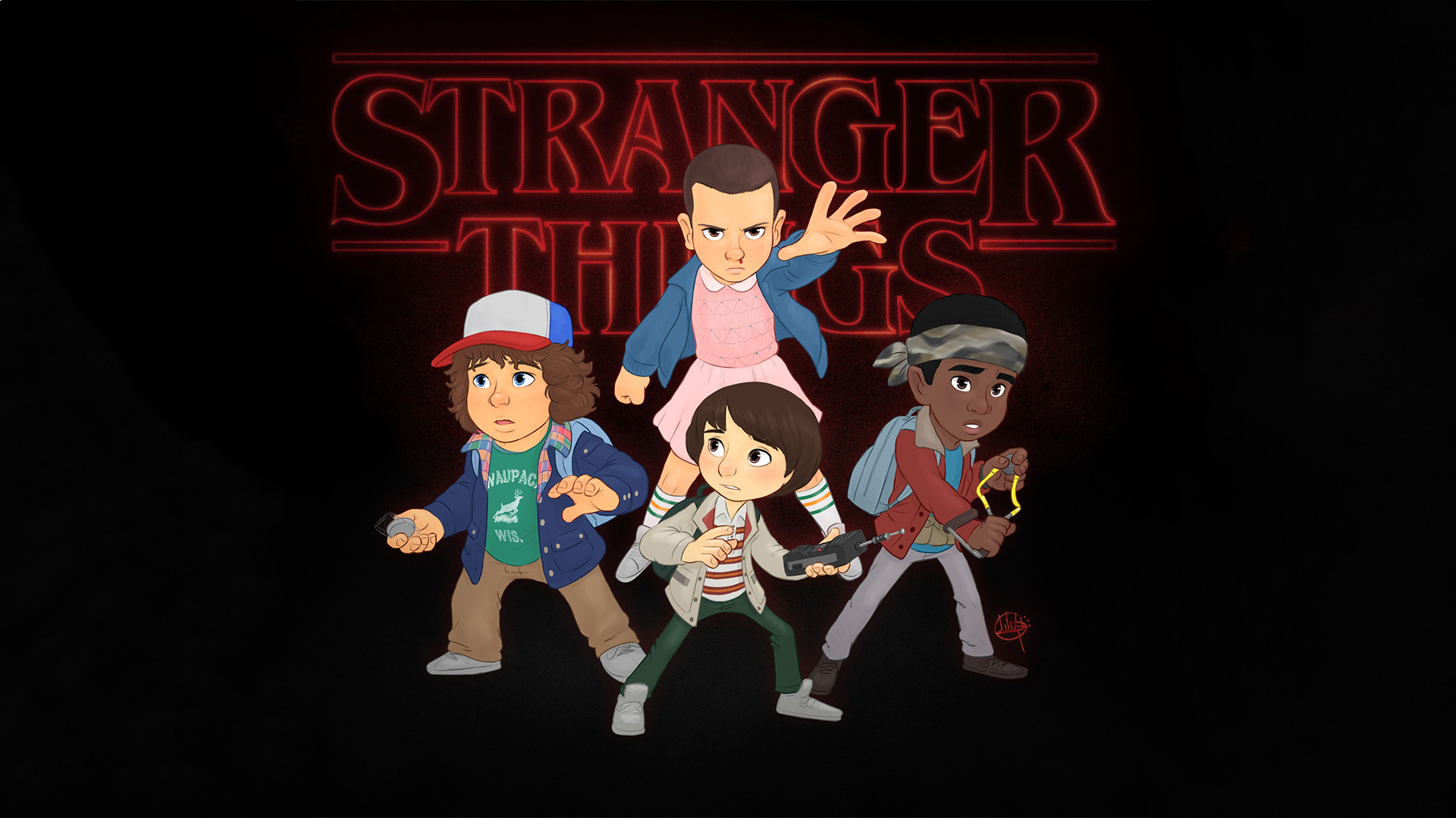 1920x1080 Stranger Things Fanart Laptop Full Hd 1080p Hd 4k