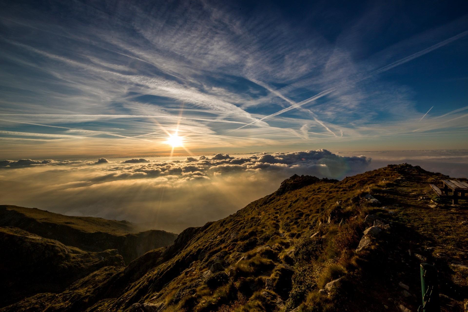 Sun Mountains Dusk Dawn Laptop Full HD 1080P HD 4k