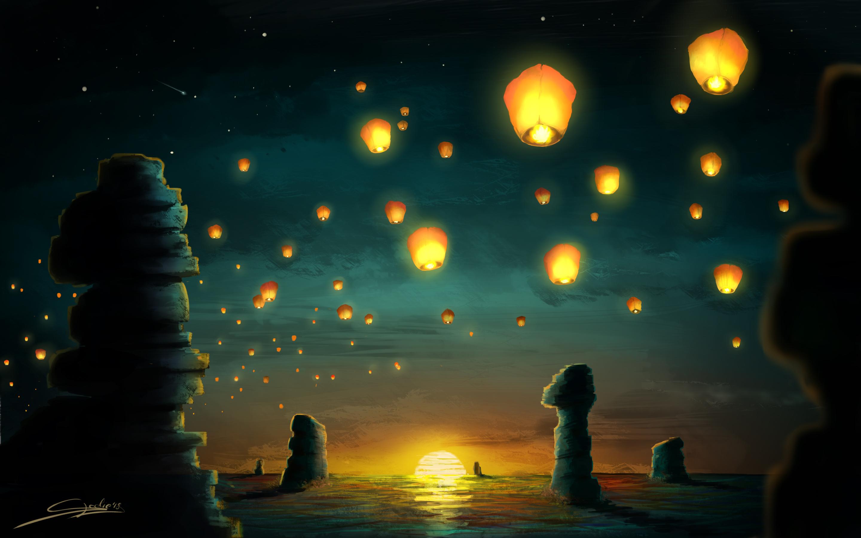 sunset lanterns kb