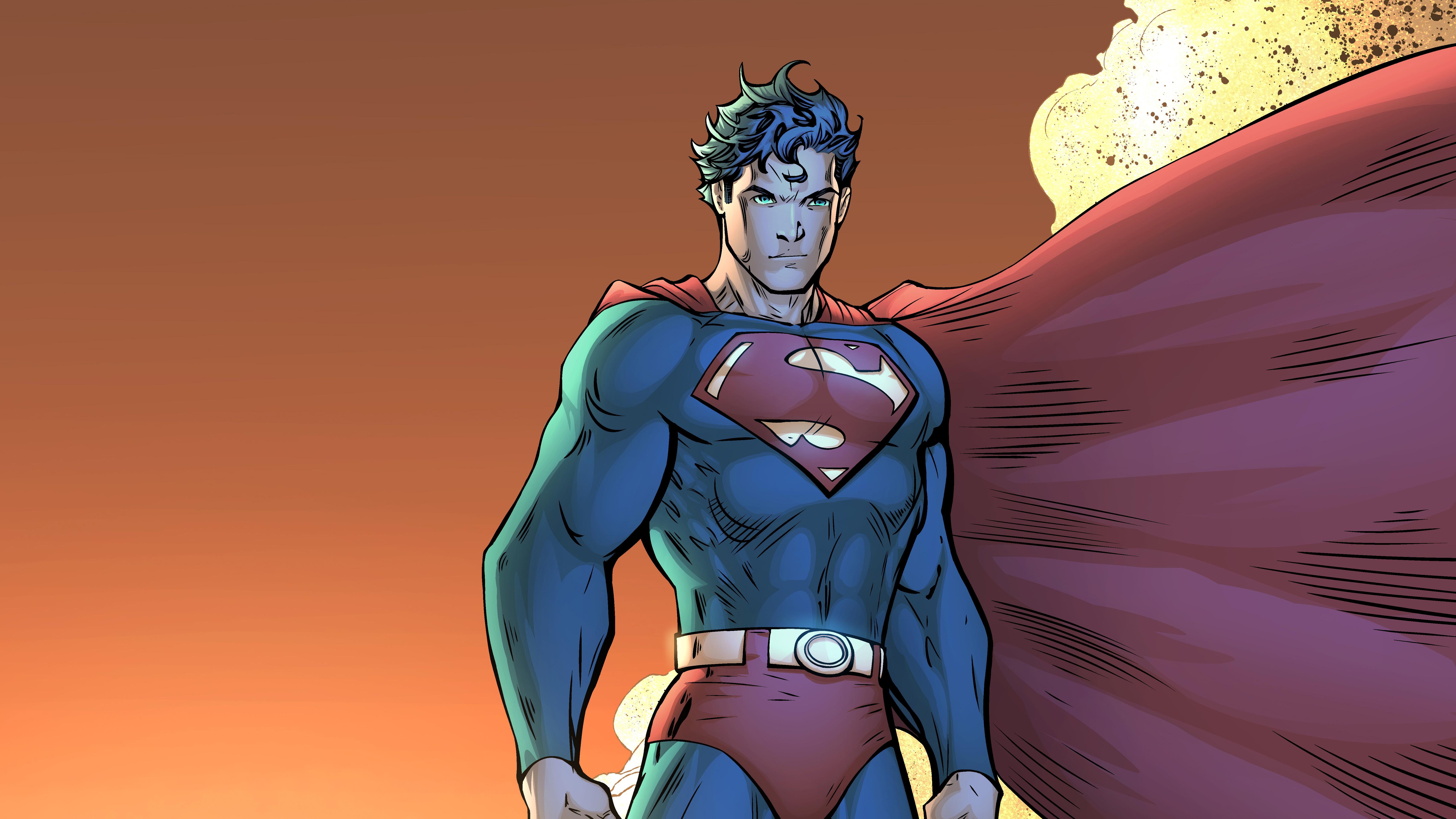 Superman Comic Book Poster 5k, HD Superheroes, 4k ...