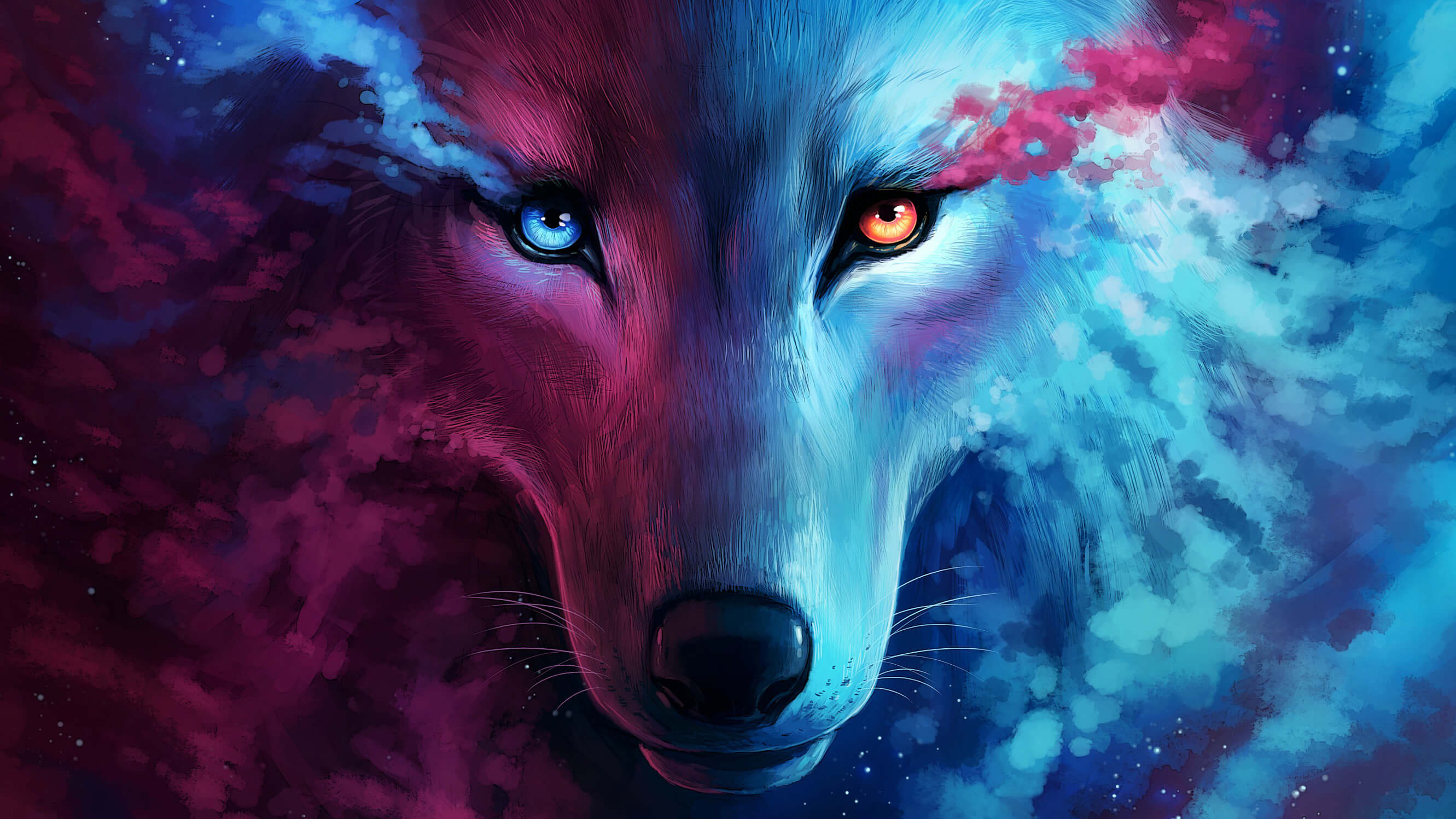 The Galaxy Wolf Hd Artist 4k Wallpapers Images Backgrounds Photos And Pictures