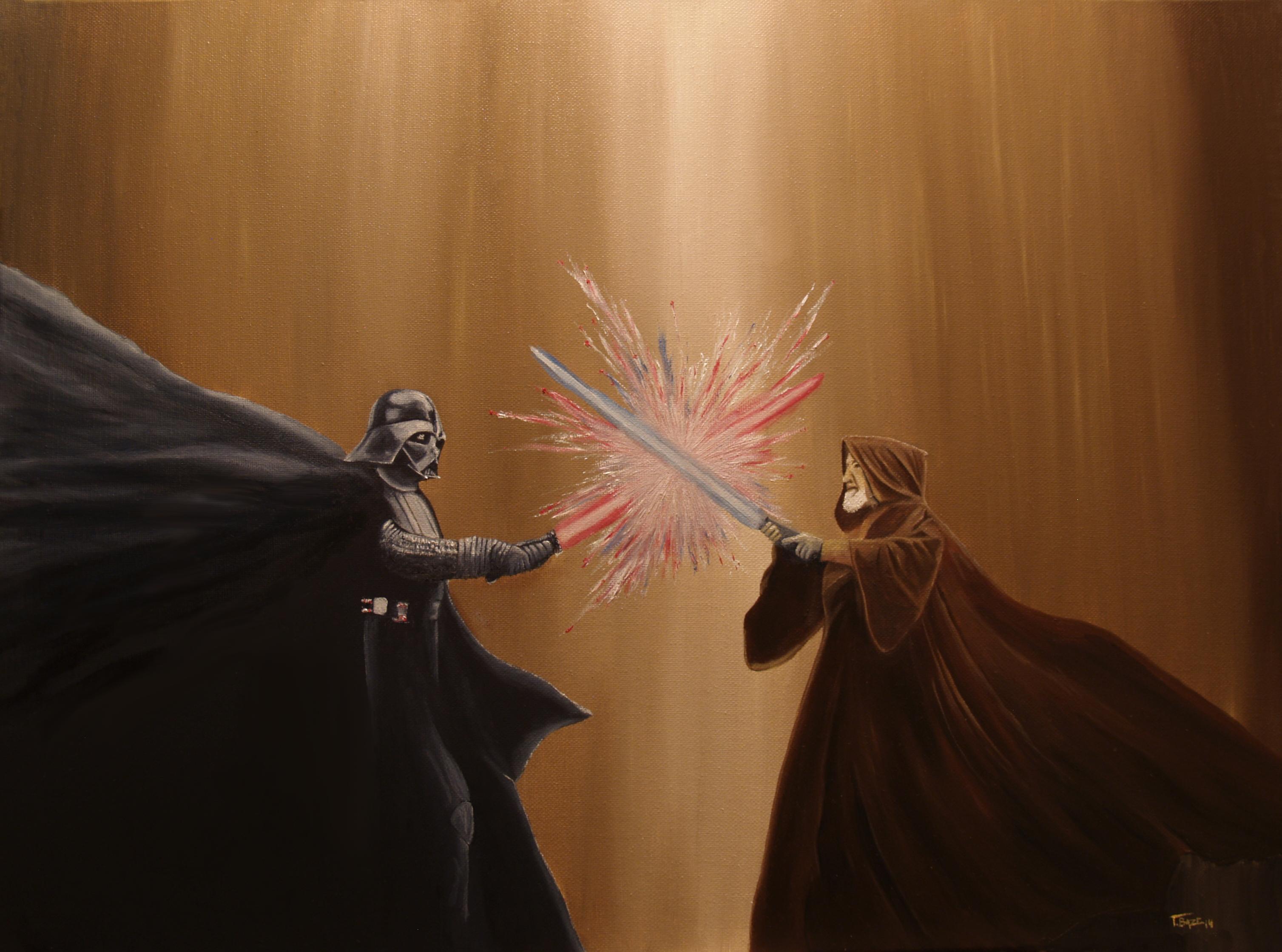 The Last Battle Darth Vader Obi Wan Star Wars Hd Movies 4k