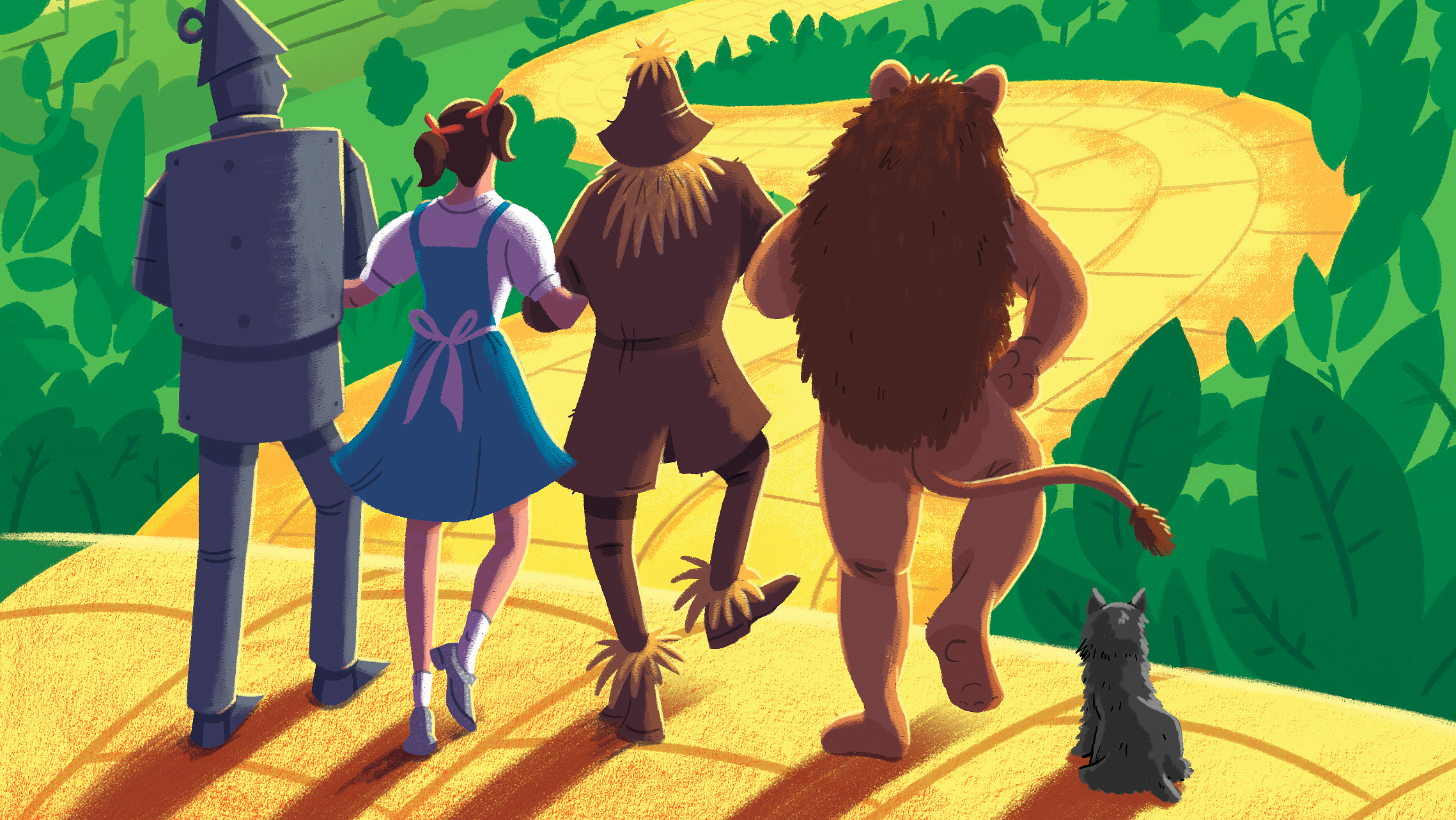 The Wizard Of Oz Illustration Hd Artist 4k Wallpapers Images