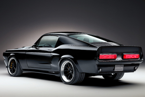 1967 Charge Cars Ford Mustang Rear View 8k Wallpaper