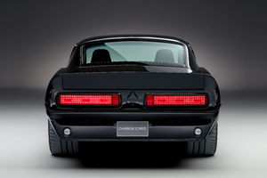 1967 Charge Cars Ford Mustang Rear View Wallpaper