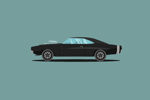 1970 Dodge Charger Fast And Furious Edition Illustration