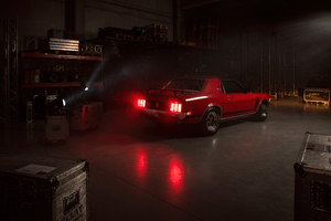 1970 Ford Mustang Coupe Classic Car Rear 5k Wallpaper