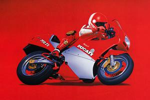 1986 Ducati 750 F1 Minimal 5k Wallpaper