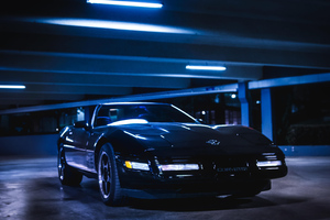 1993 Corvette Parking Lot 5k Wallpaper