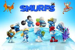 2017 Smurfs The Lost Village Movie Wallpaper