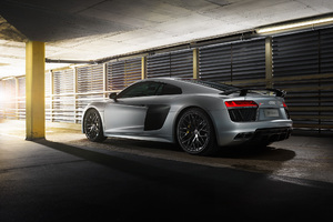 2018 Audi R8 V10 Plus Rear Wallpaper