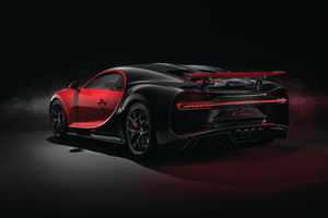 2018 Red Bugatti Chiron Sport Rear View