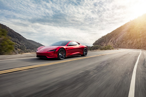 2018 Tesla Roadster Side View 4k Wallpaper