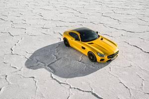 2018 Yellow Mercedes Benz Amg GT
