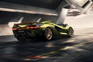2019 8k Lamborghini Sian Wallpaper