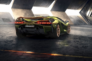 2019 8k Lamborghini Sian Rear Wallpaper