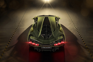 2019 8k Lamborghini Sian Upper View Wallpaper