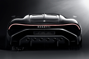 2019 Bugatti La Voiture Noire Rear View Wallpaper