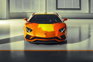 2019 Lamborghini Aventador S Front View Wallpaper