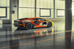 2019 Lamborghini Aventador S Rear View Wallpaper