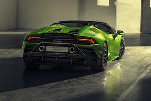 2019 Lamborghini Huracan Evo Spyder Rear View 5k