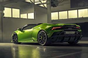 2019 Lamborghini Huracan Evo Spyder Rear View Wallpaper
