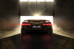 2019 Lamborghini Sian 8k Rear Wallpaper