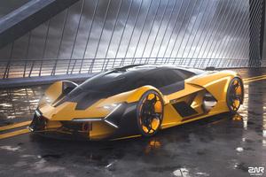 2019 Lamborghini Terzo Millennio 4k