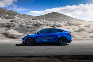 2019 Tesla Model Y Side View Wallpaper