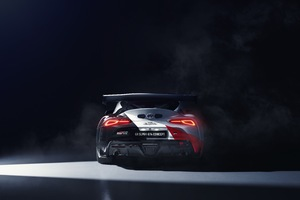 2019 Toyota GR Supra GT4 Concept Rear Wallpaper