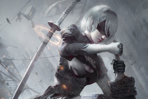 2020 2b Nier Fanart Artwork Wallpaper