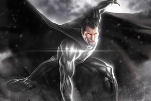 2020 Black Superman 4k Wallpaper