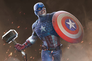 2020 Captain America Artwork Wallpaper