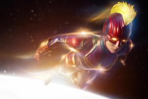 2020 Captain Marvel 4k New Wallpaper