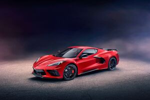 2020 Chevrolet Corvette Stingray C8 Front Wallpaper