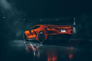 2020 Chevrolet Corvette Stingray C8 Rear Wallpaper