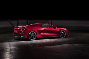 2020 Chevrolet Corvette Stingray C8 Rear New Wallpaper