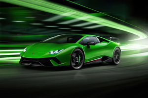 2020 Green Lamborghini Huracan Performante 4k