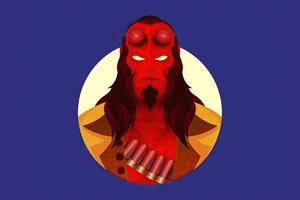 2020 Hellboy Minimalism 4k Wallpaper